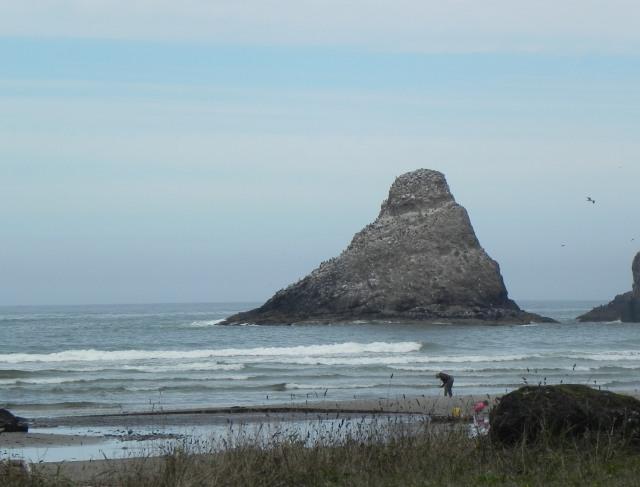 Haystack rocks near Cannon Beach, Oregon.
